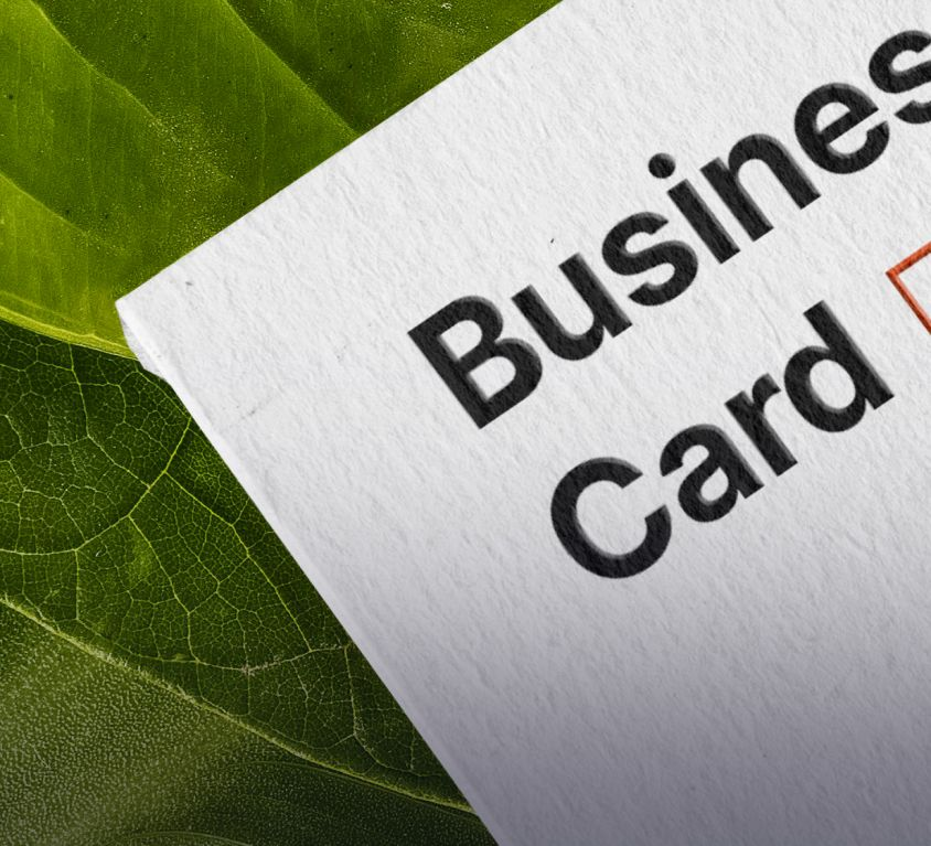 Green business card (Demo)